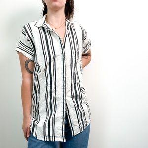 Soleil Linen Striped T-Shirt Dress Cardigan